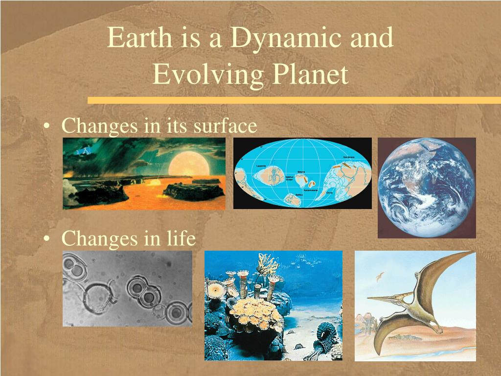 Changes in its surface