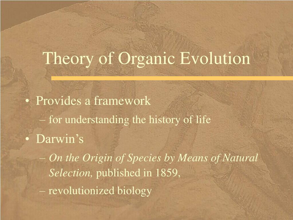Theory of Organic Evolution