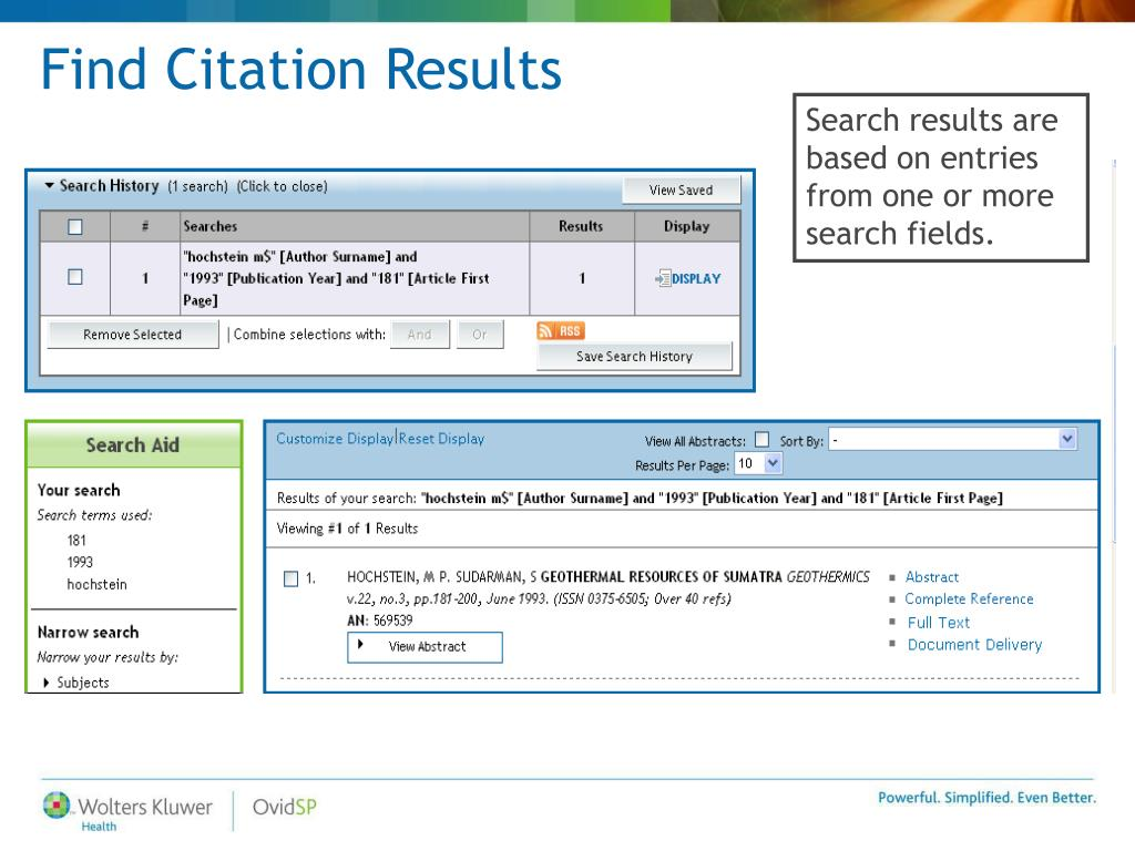 Find Citation Results