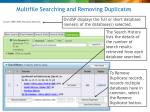 multifile searching and removing duplicates