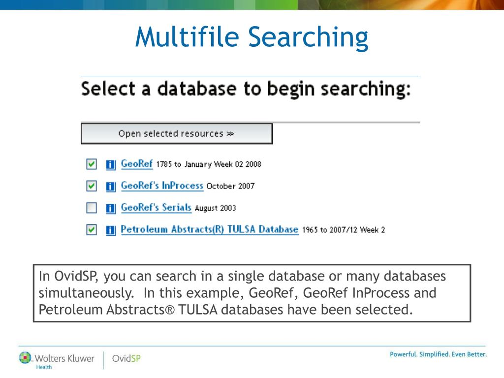Multifile Searching