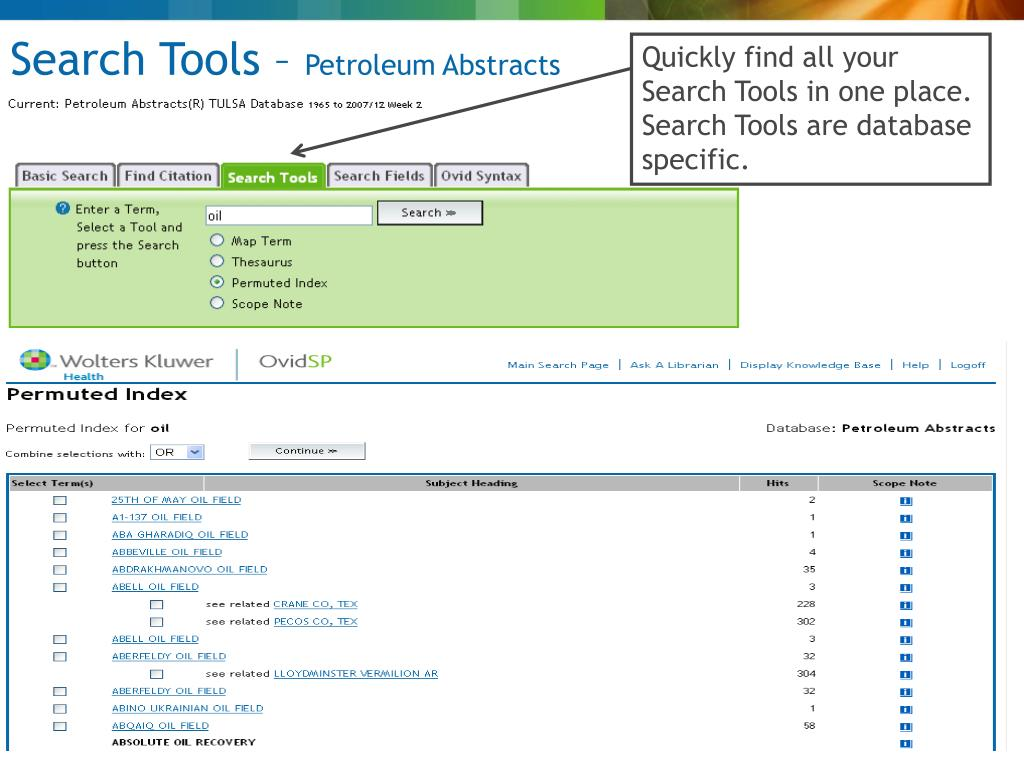 Search Tools –