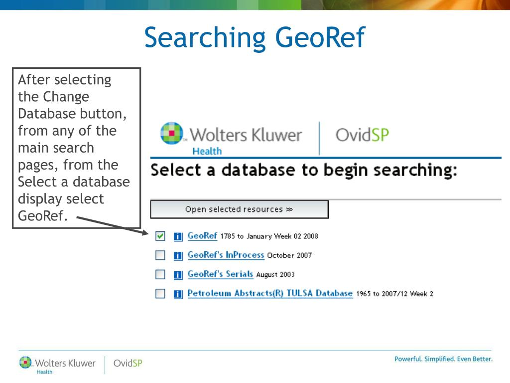 Searching GeoRef