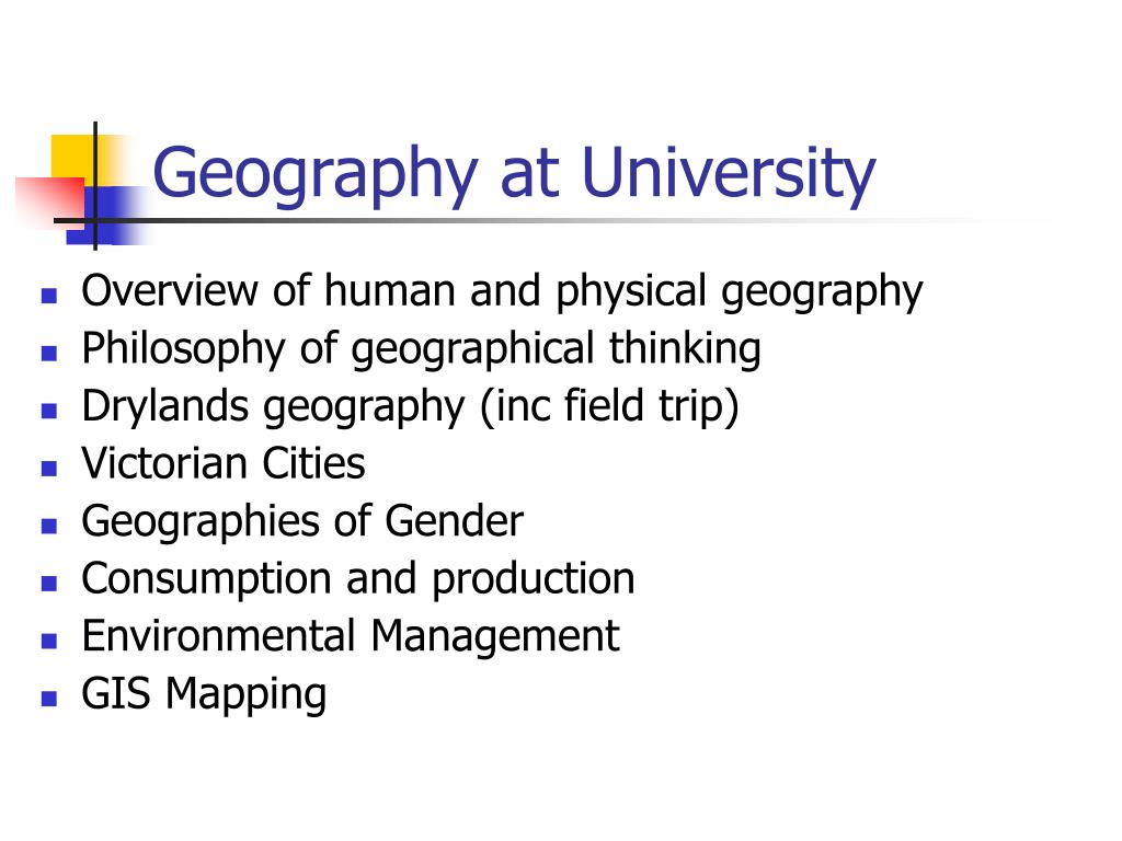 Geography at University