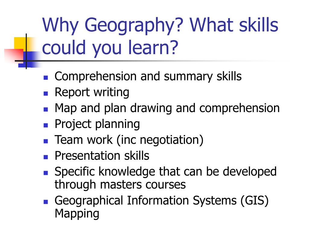 Why Geography? What skills could you learn?