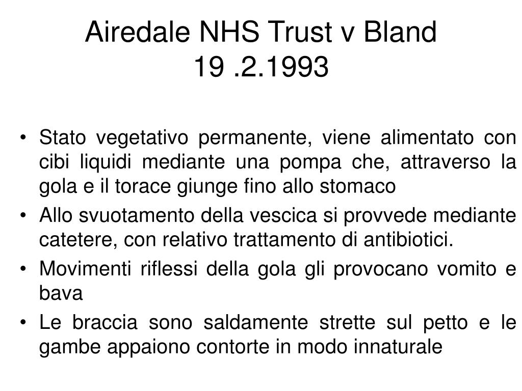 Airedale NHS Trust v Bland
