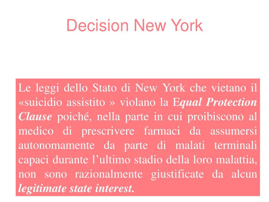 Decision New York
