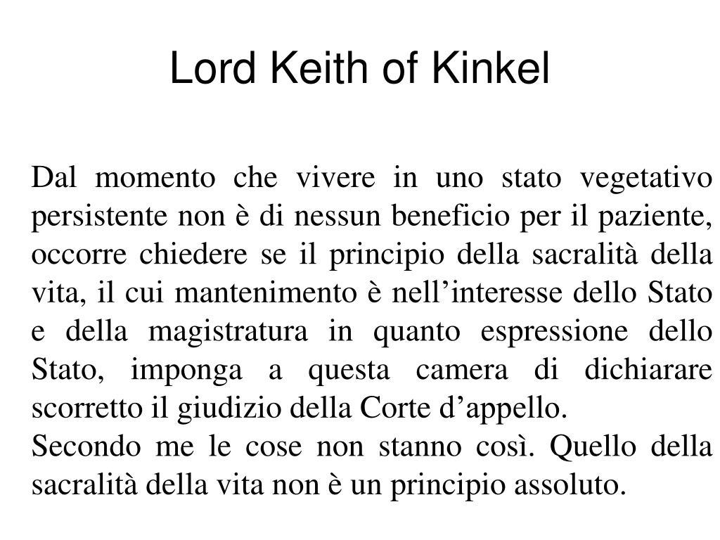 Lord Keith of Kinkel