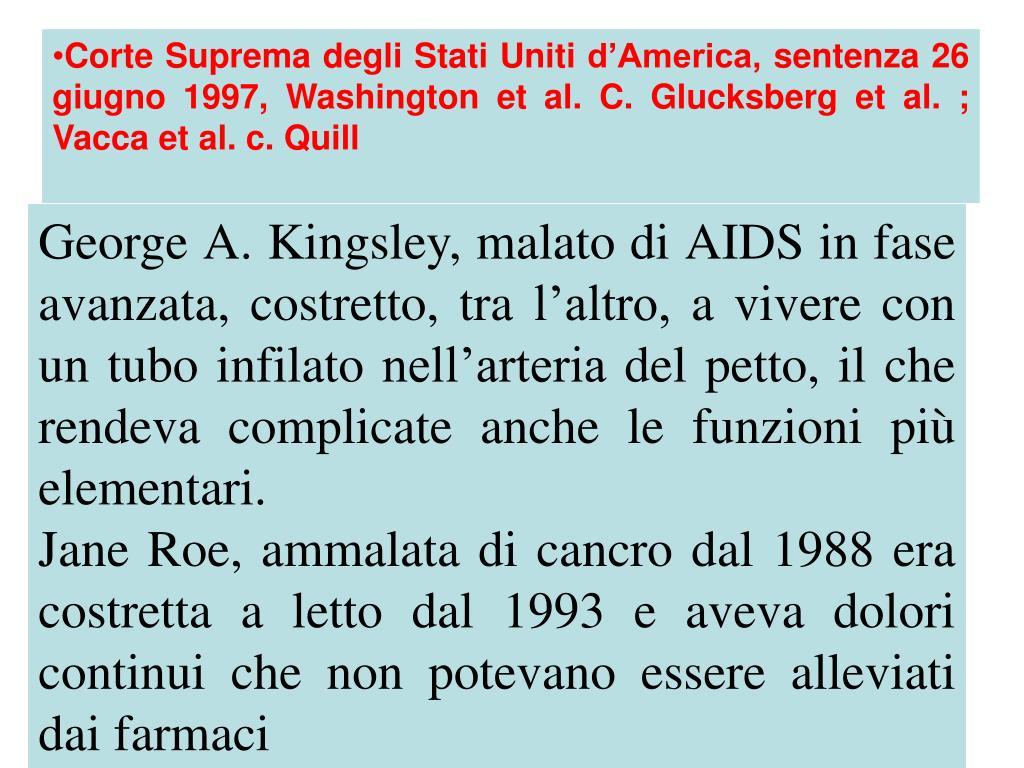 Corte Suprema degli Stati Uniti d'America, sentenza 26 giugno 1997, Washington et al. C. Glucksberg et al.; Vacca et al. c. Quill