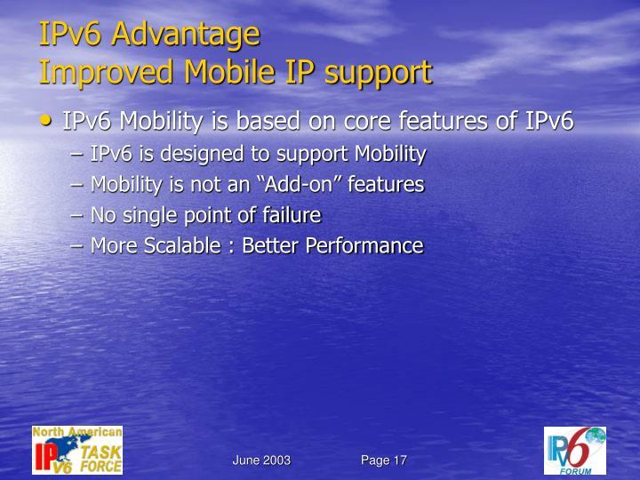 IPv6 Advantage