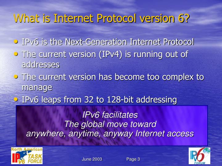 What is Internet Protocol version 6?