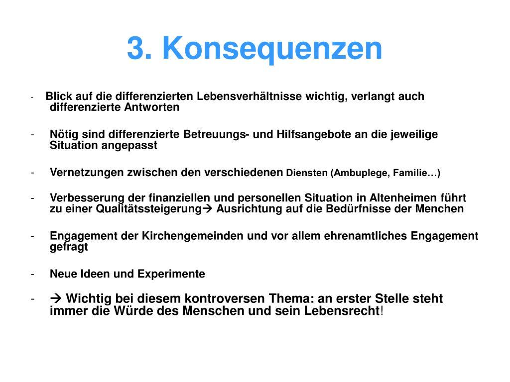 3. Konsequenzen