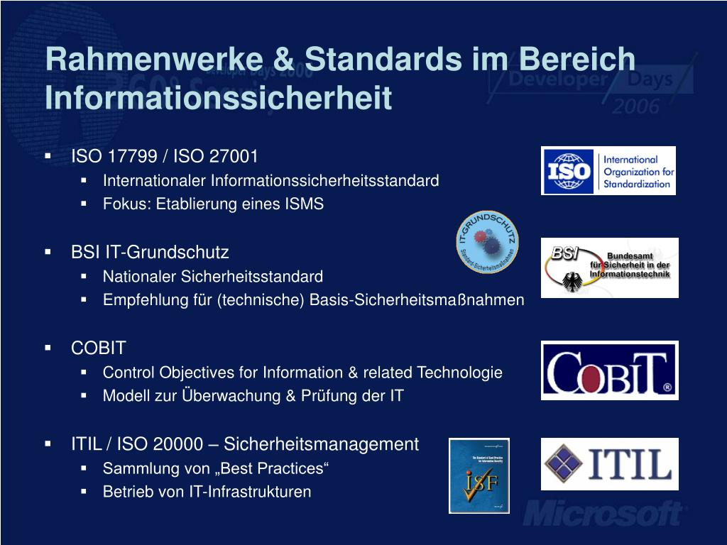 Rahmenwerke & Standards im Bereich Informationssicherheit