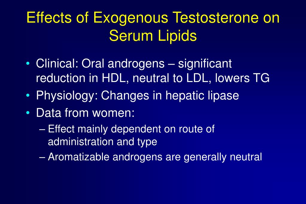 Effects of Exogenous Testosterone on Serum Lipids