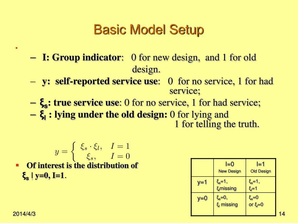 Basic Model Setup