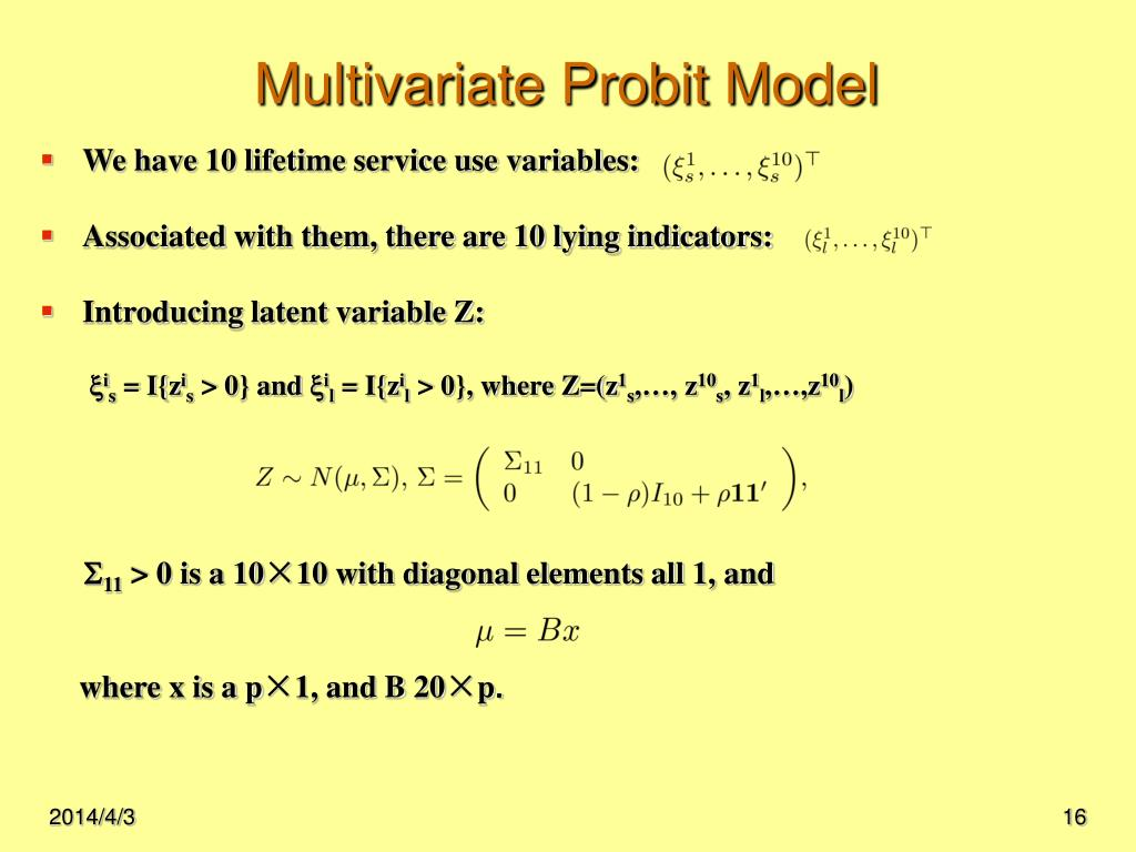 Multivariate Probit Model