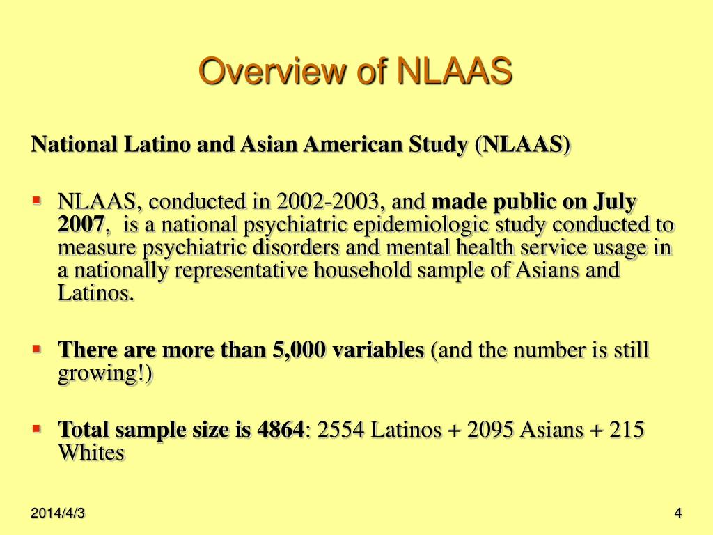 Overview of NLAAS