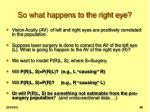so what happens to the right eye