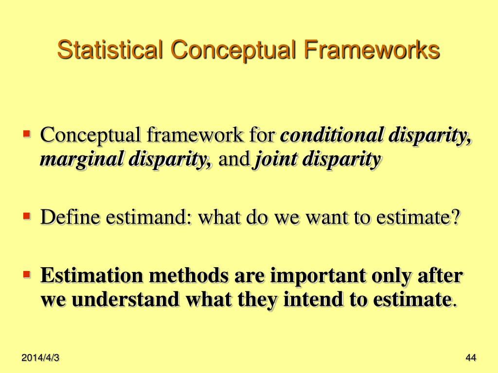 Statistical Conceptual Frameworks