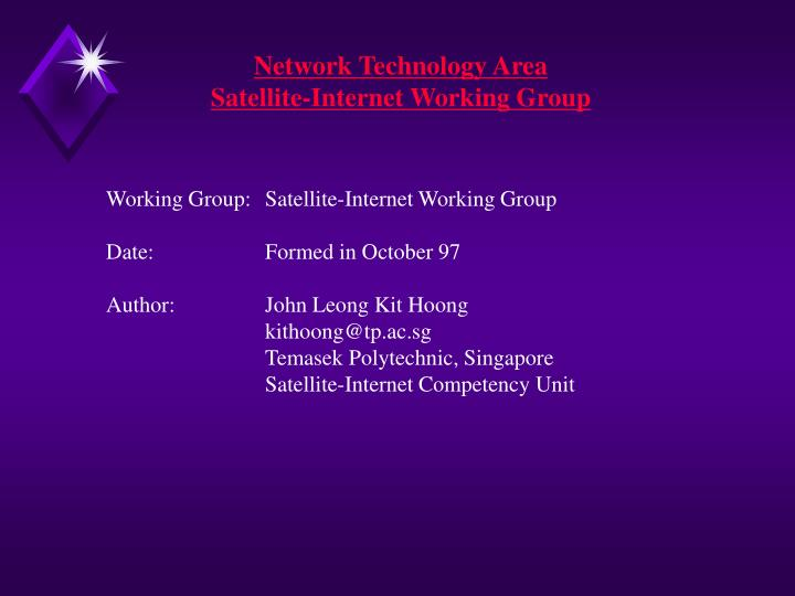 Network Technology Area