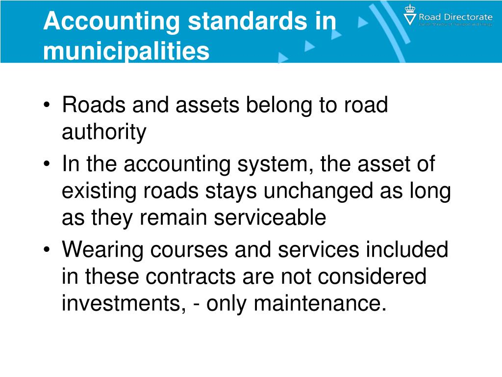 Accounting standards in municipalities