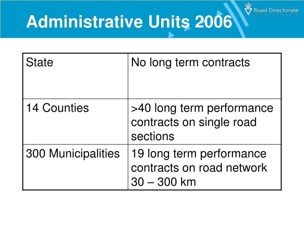 Administrative Units 2006