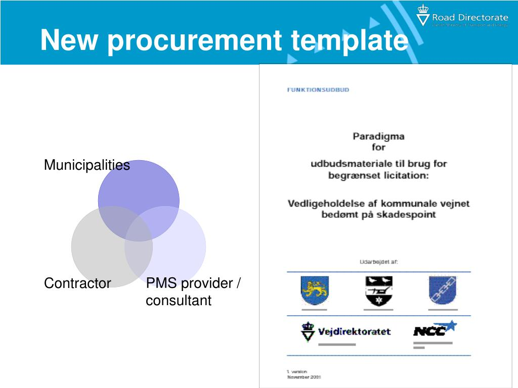 New procurement template