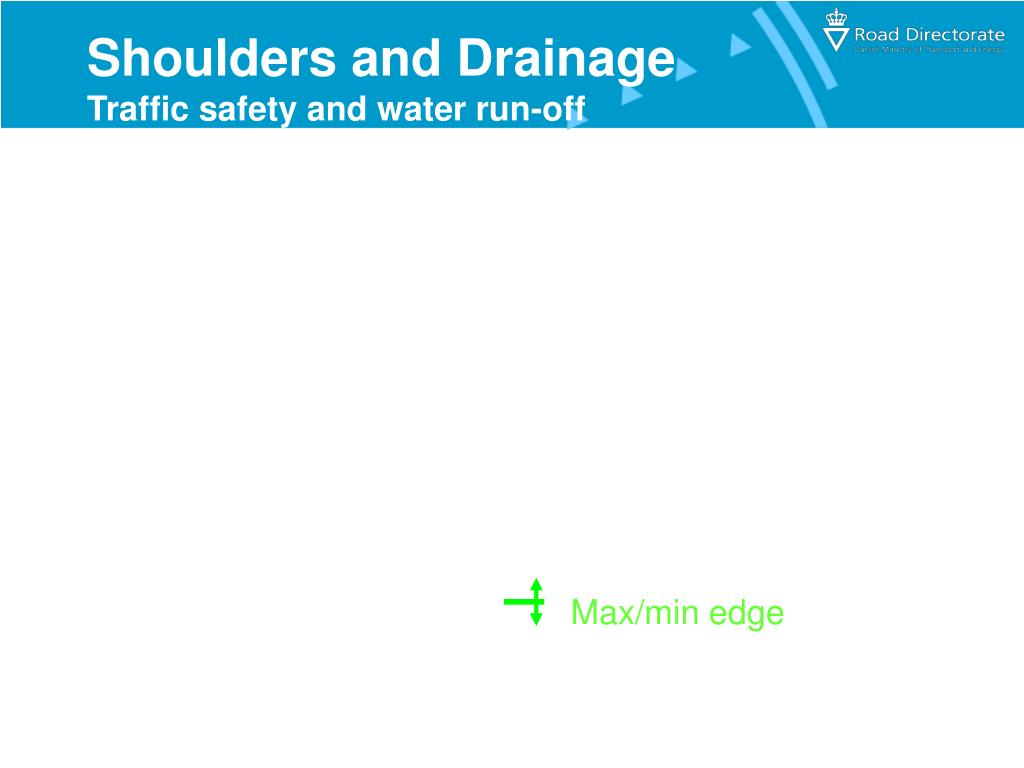 Shoulders and Drainage