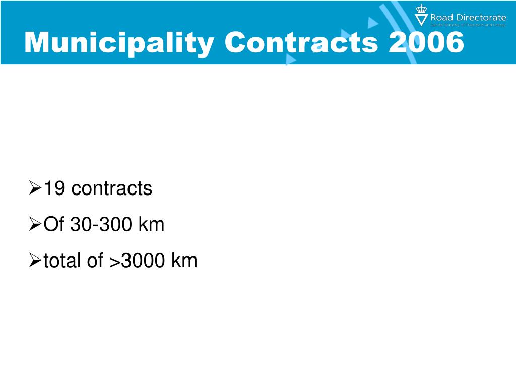Municipality Contracts 2006