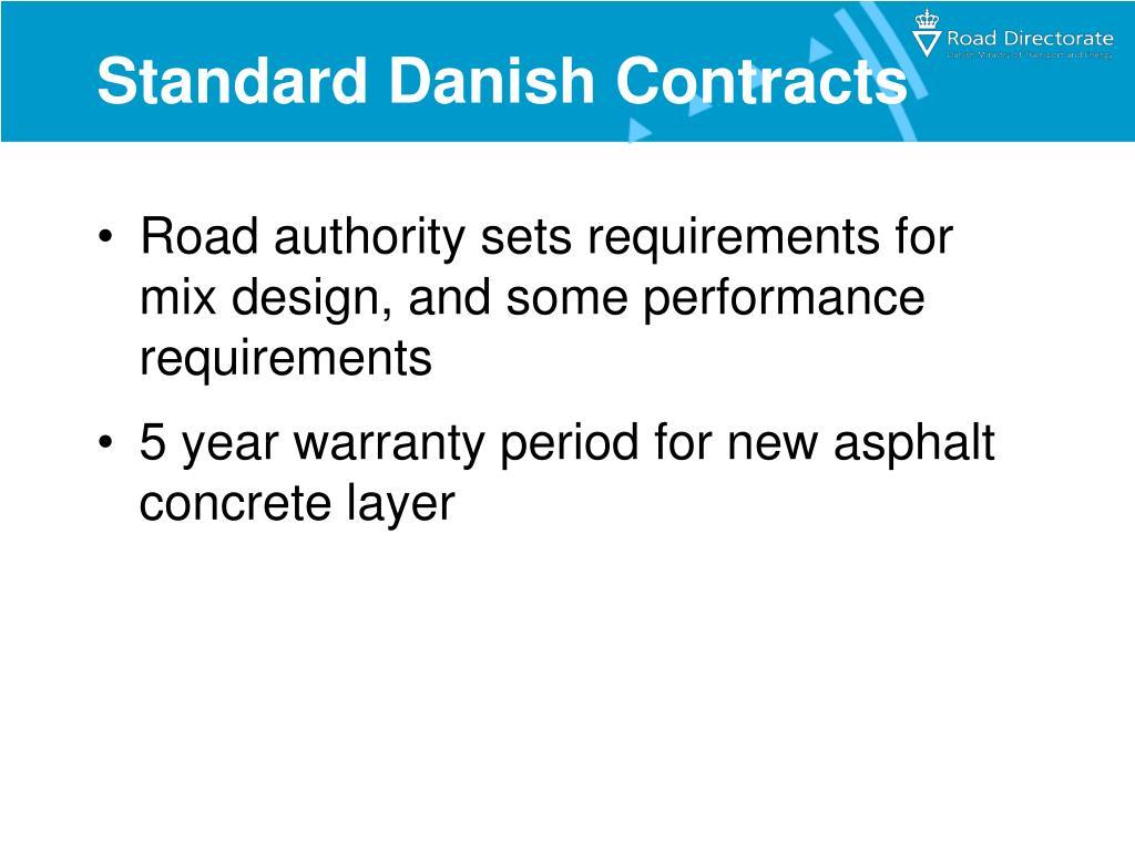 Standard Danish Contracts