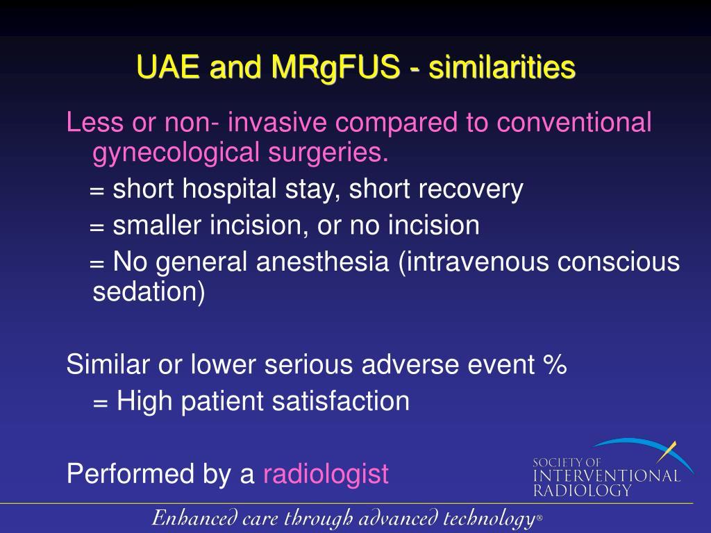 UAE and MRgFUS -