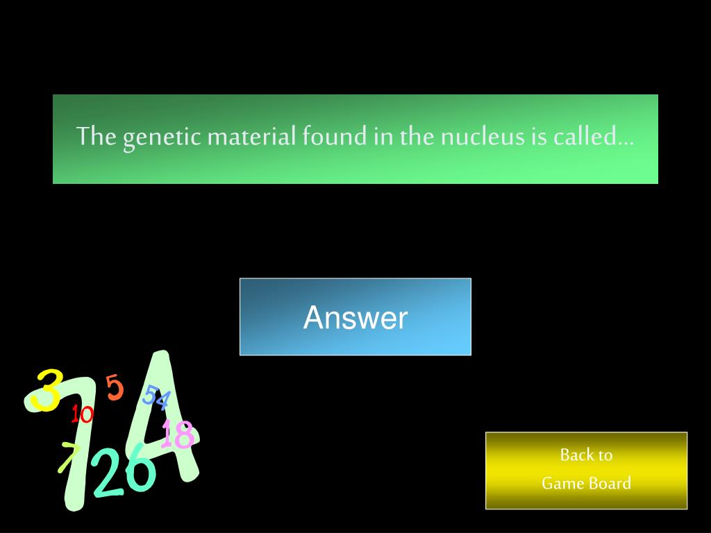 The genetic material found in the nucleus is called…