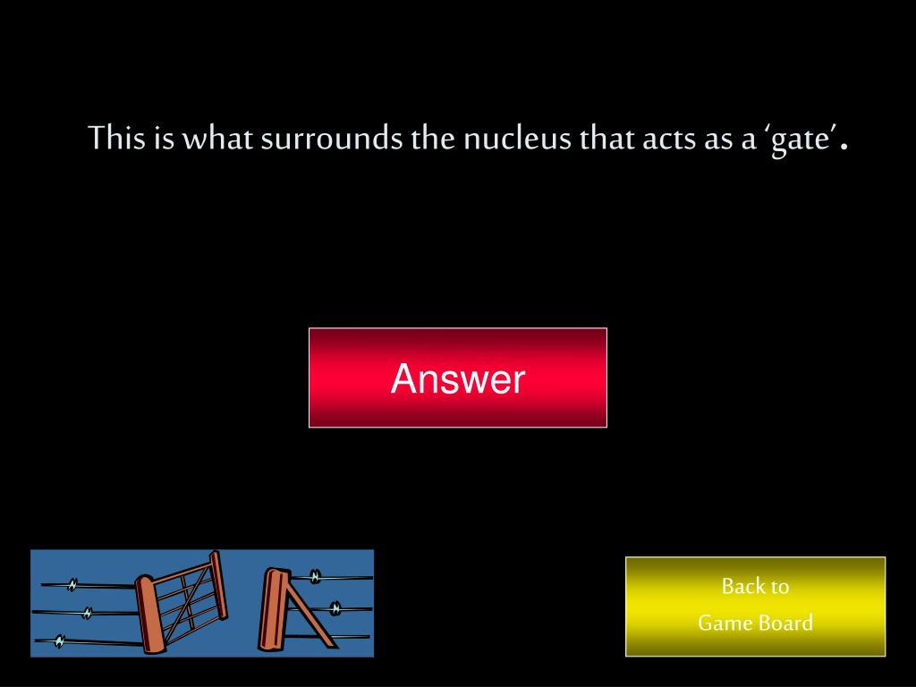This is what surrounds the nucleus that acts as a 'gate'