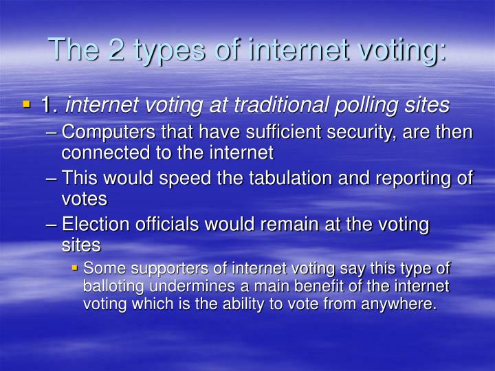 The 2 types of internet voting