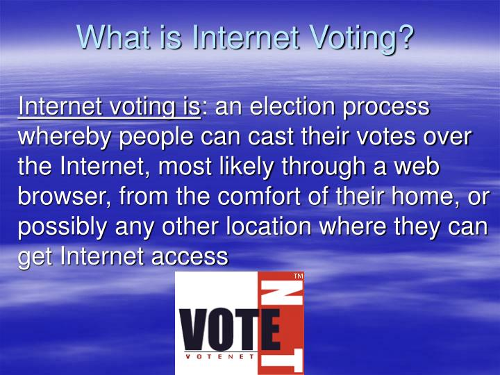 What is internet voting