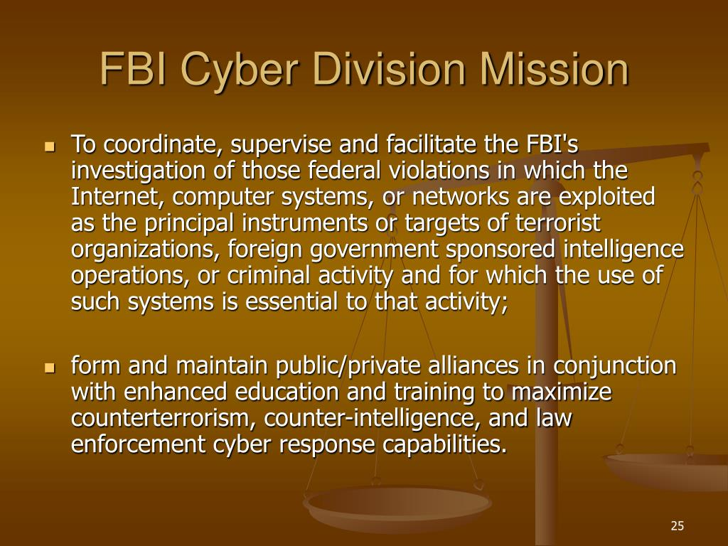 FBI Cyber Division Mission