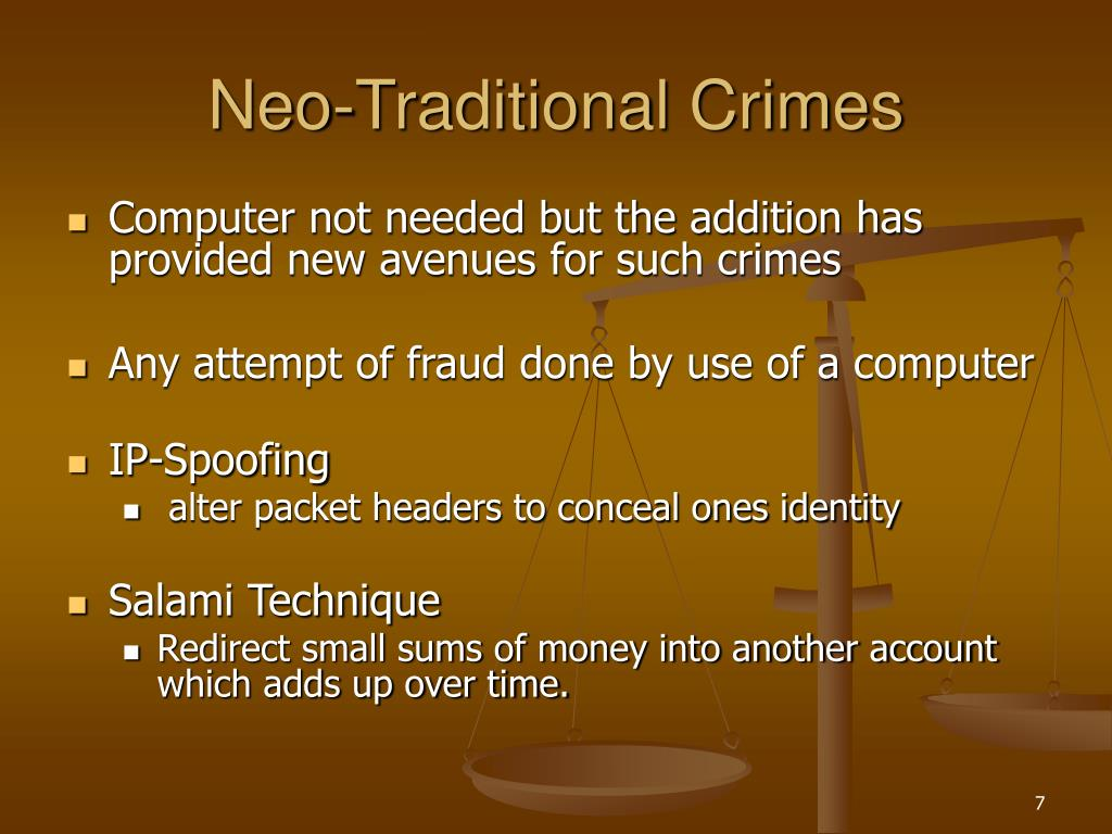 Neo-Traditional Crimes