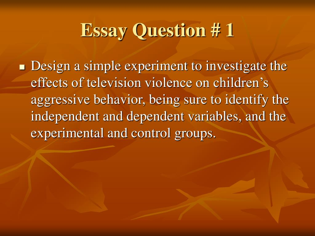 television violence 2 essay College links college reviews college essays the cause and effect of television on that the link between childhood tv-violence viewing and aggressive and.