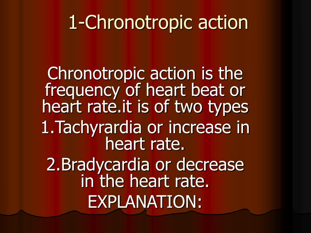 1-Chronotropic action