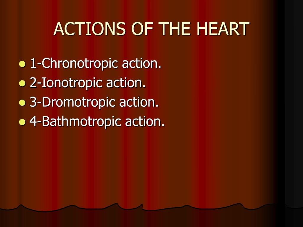 ACTIONS OF THE HEART