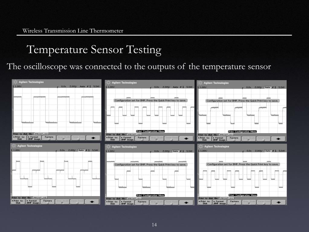 Wireless Transmission Line Thermometer