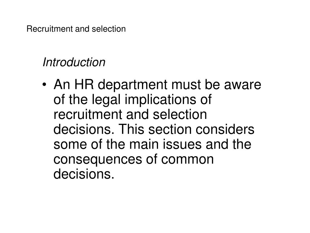 recruitment and selection cv