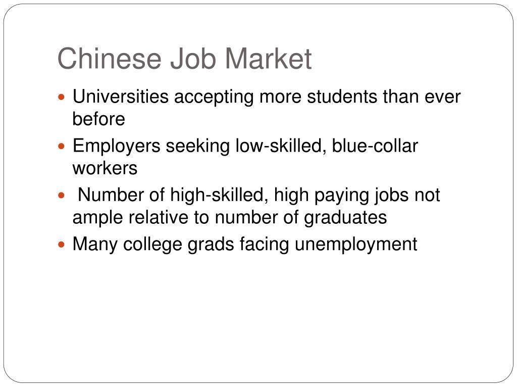 Chinese Job Market