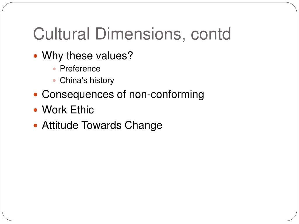 Cultural Dimensions,
