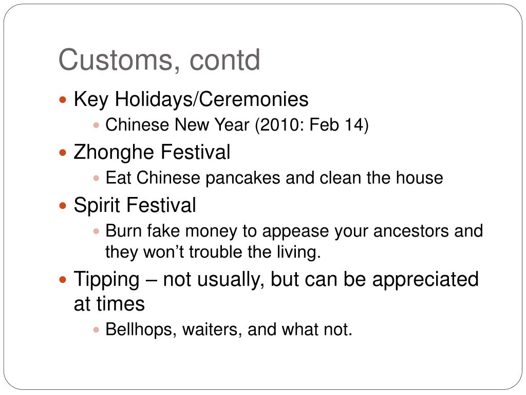 Customs,