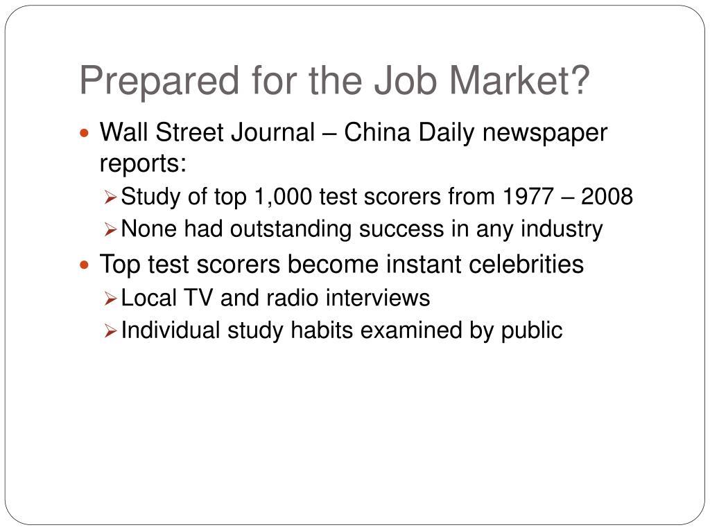 Prepared for the Job Market?