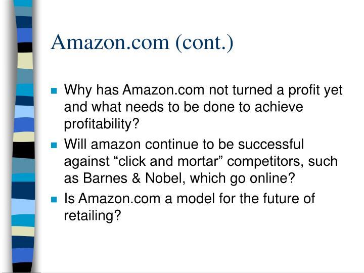 Amazon.com (cont.)