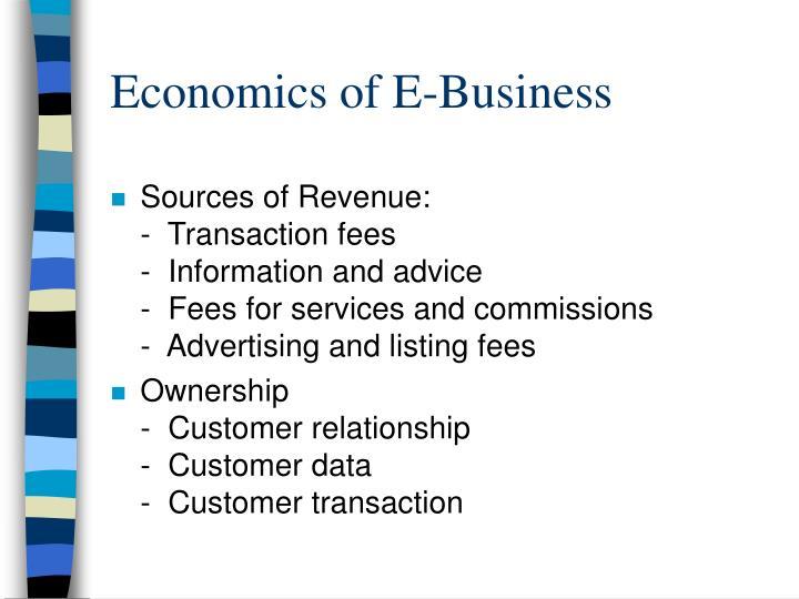 Economics of E-Business