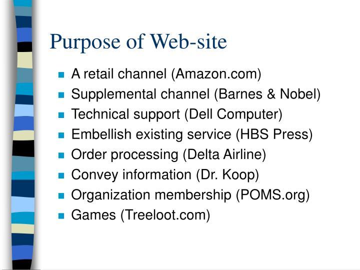 Purpose of Web-site