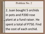 problem no 2